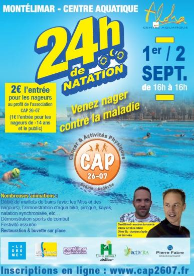 Affiche 24 h natation 2018